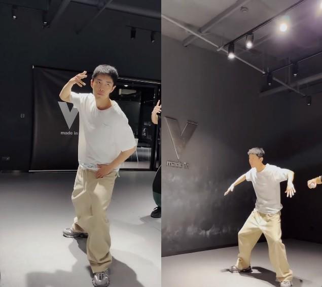 肖战跨年后台花絮曝光,跳机械舞拍造型两不误,维持状态方法多