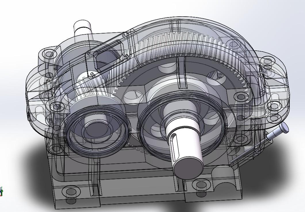 减速机装配图3D图纸 Solidworks设计