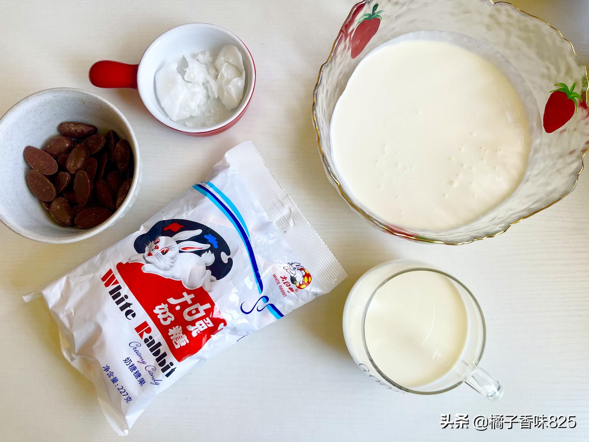 大白兔别再直接吃了,做成冰淇淋,细腻丝滑入口即化,做法超简单