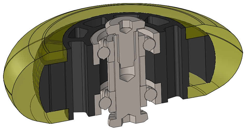 inline滑板轮模型3D图纸 Solidworks设计