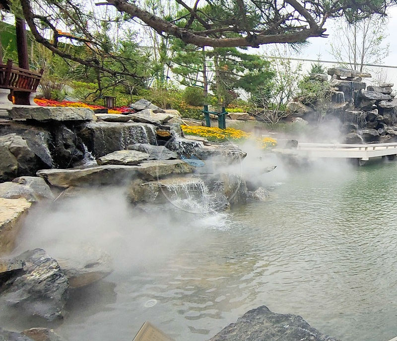 水景与雾森勾勒出的梦幻景观——锦胜雾森人造雾景观设计