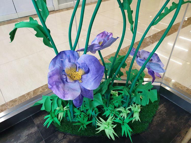 商业美陈纸花艺与花艺设计对应活动策划会展活动中