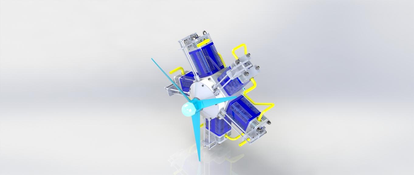 motor-radial径向星型发动机3D图纸