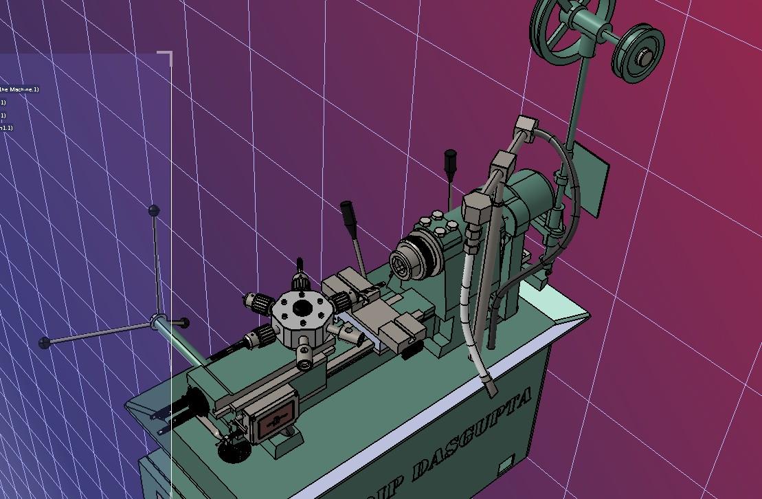 Turret Lathe Machine车床3D数模图纸 STEP格式