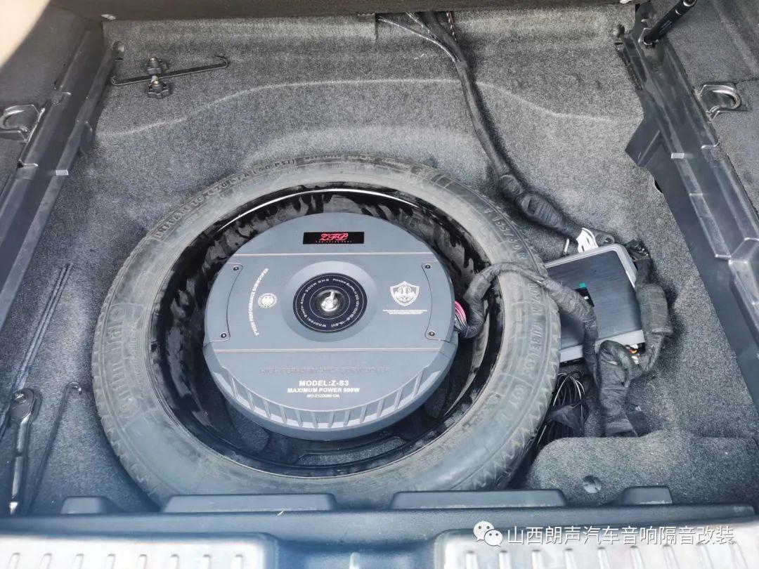 个性选择,自由改装——奔驰CLS63改装丹拿236搭配备胎低音
