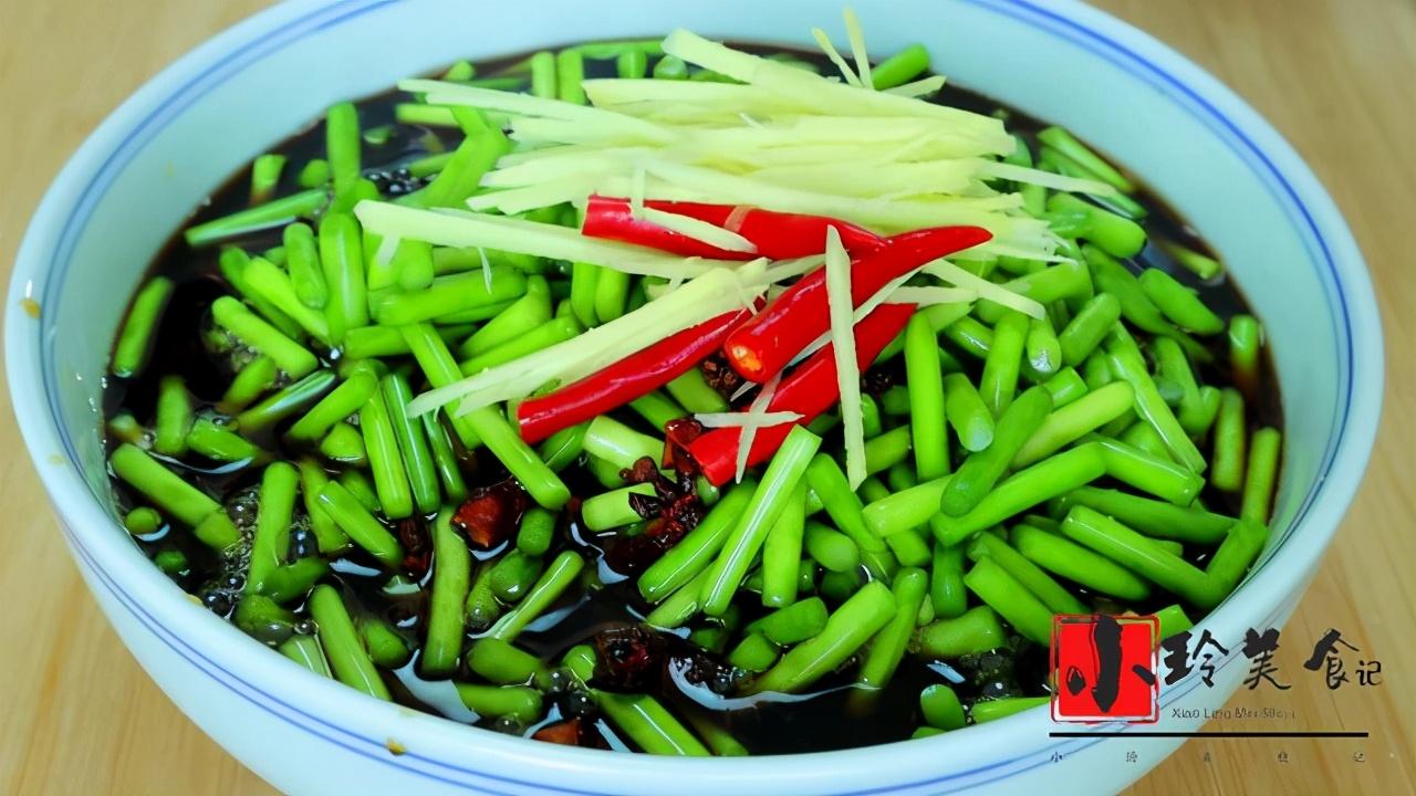 腌蒜苔的正宗做法,20几年的老配方,腌好就能吃,做一次吃半年 美食做法 第7张