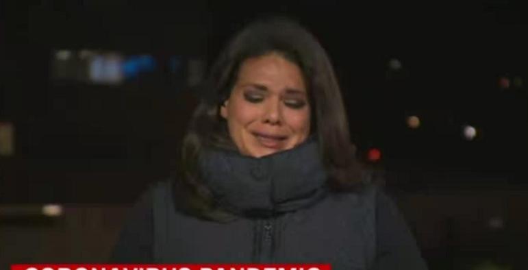 美国加州疫情失控,记者直播失声痛哭