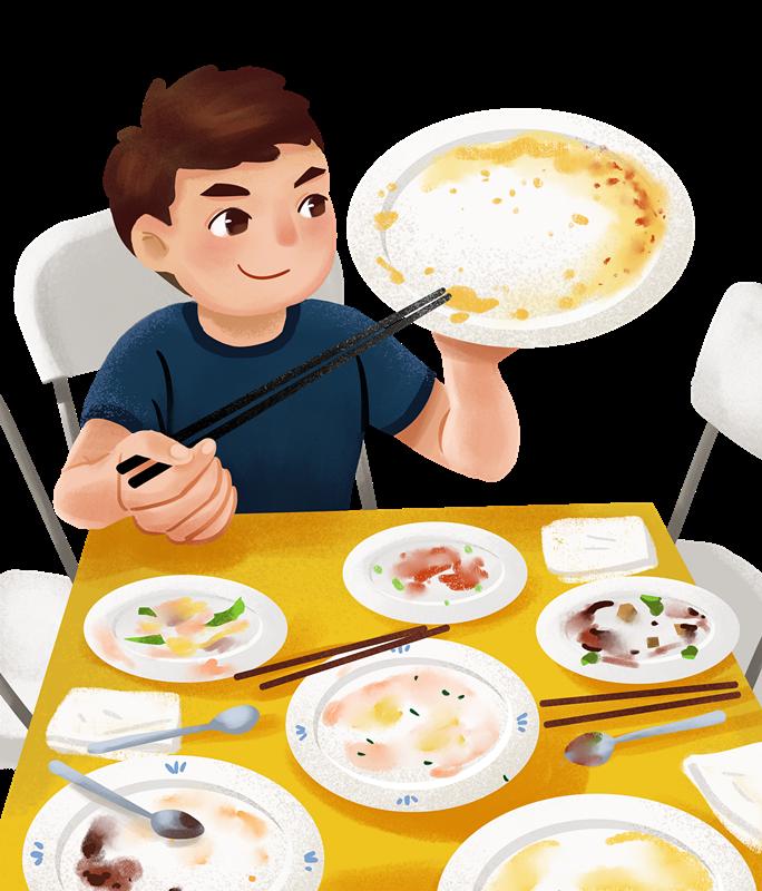 勤俭节约,文明用餐,拒绝舌尖上的浪费