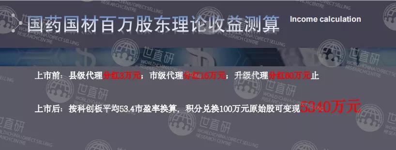国材济世的大单模式:官方与经销商签订合作协议,承诺配送原始股