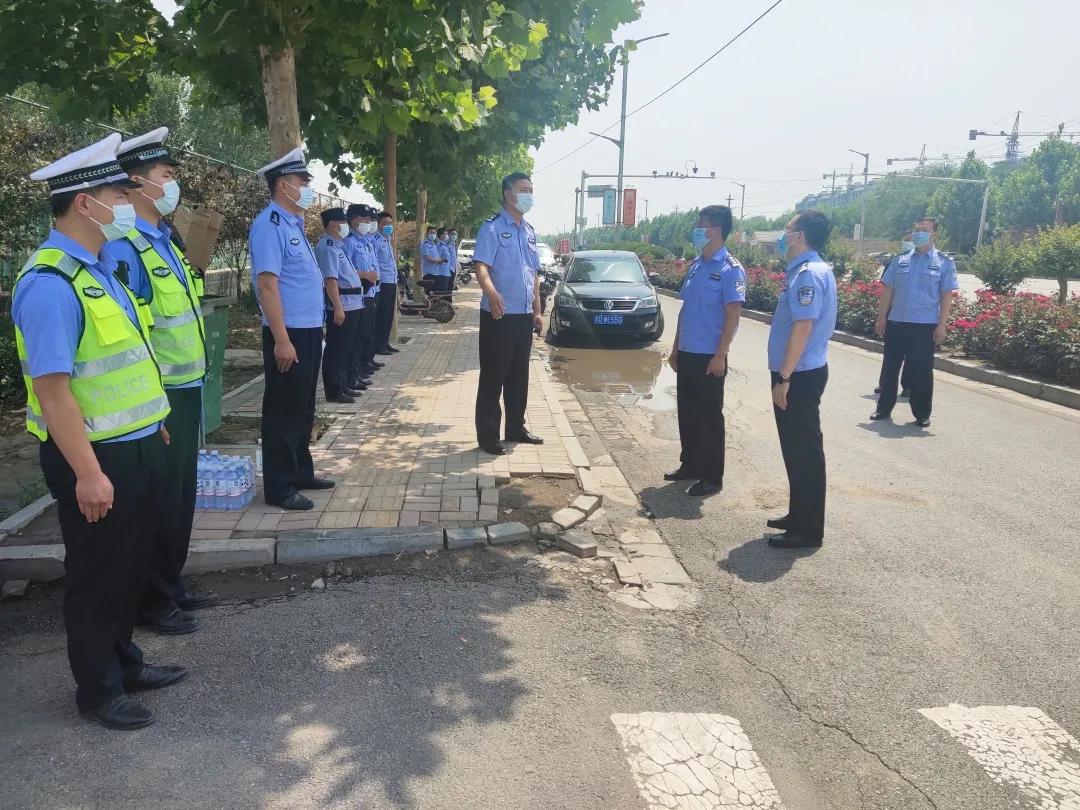 河北平乡县副县长、公安局长刘金林到高考考点督导安保工作