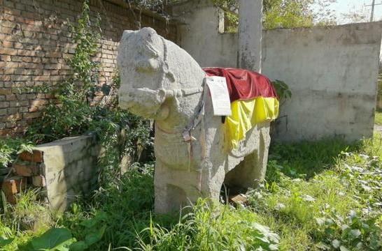 西安的马家沟有一个四百多年前的石马