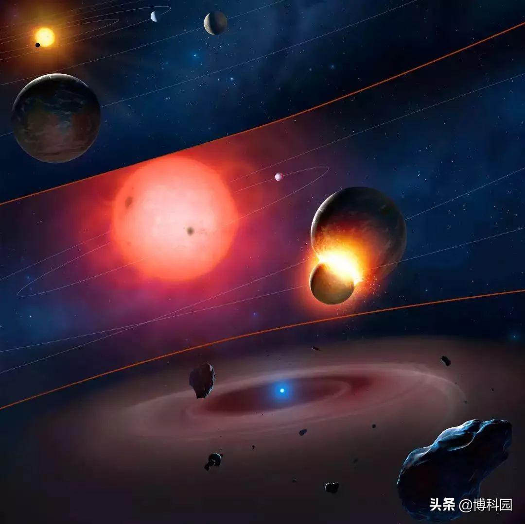 日食灾变亮度不规则,这是由白矮星和恒星组成的奇怪双星系统