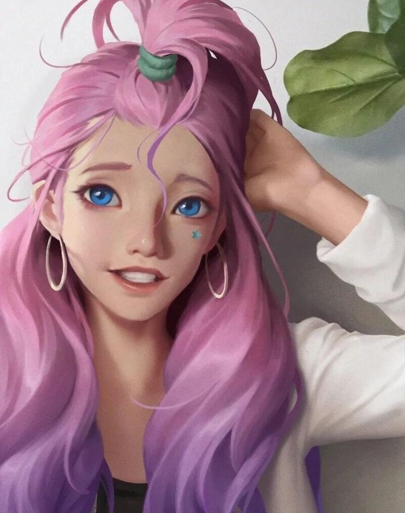LOL最新女英雄提前曝光!长相酷似金克丝,拥有一头美丽长发