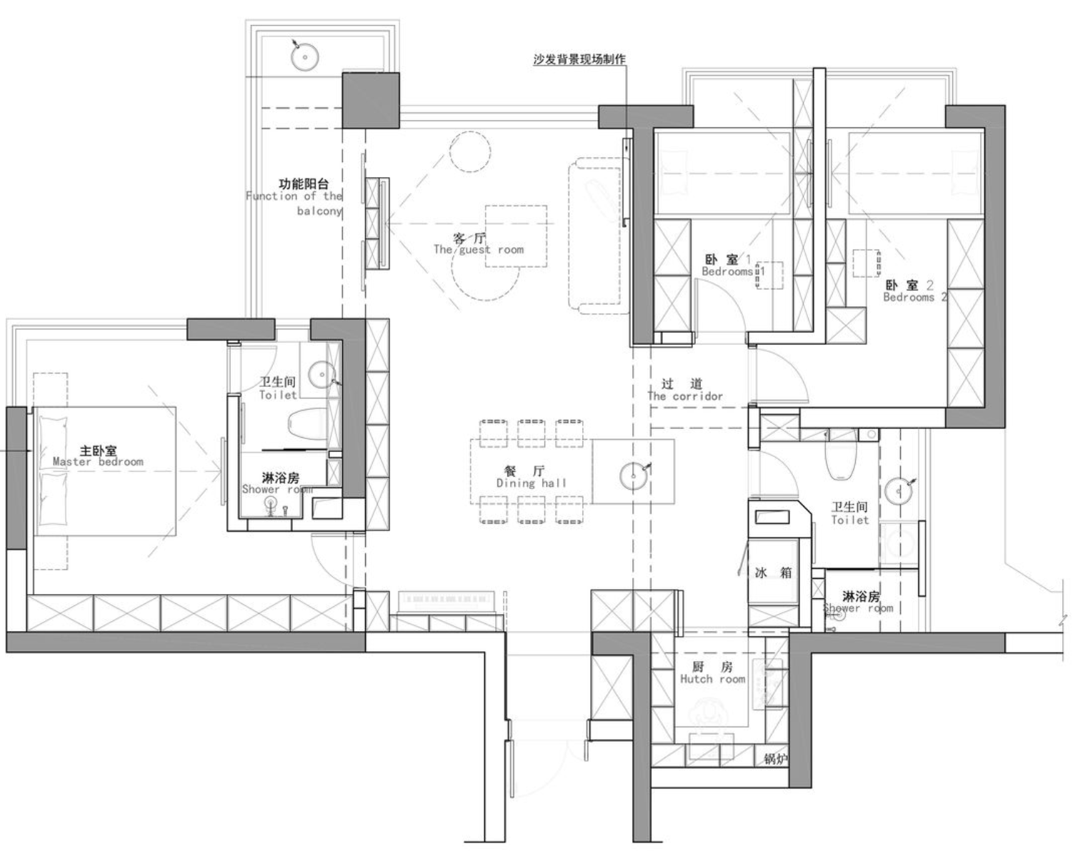 走进上海夫妇102㎡新家,巧妙的压缩空间后,看起来超大