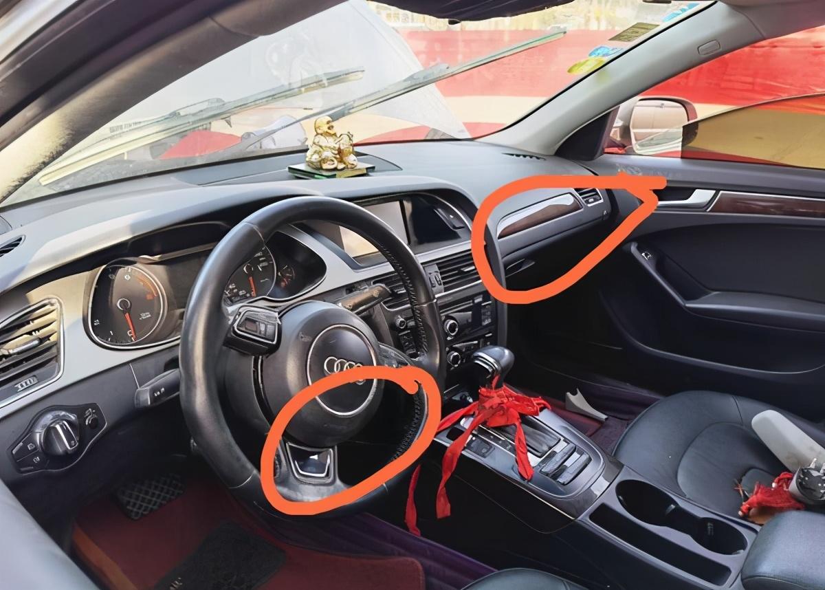 一奥迪车头防撞梁被撞成U字型,安全气囊未打开,4S店:没达到触发的条件