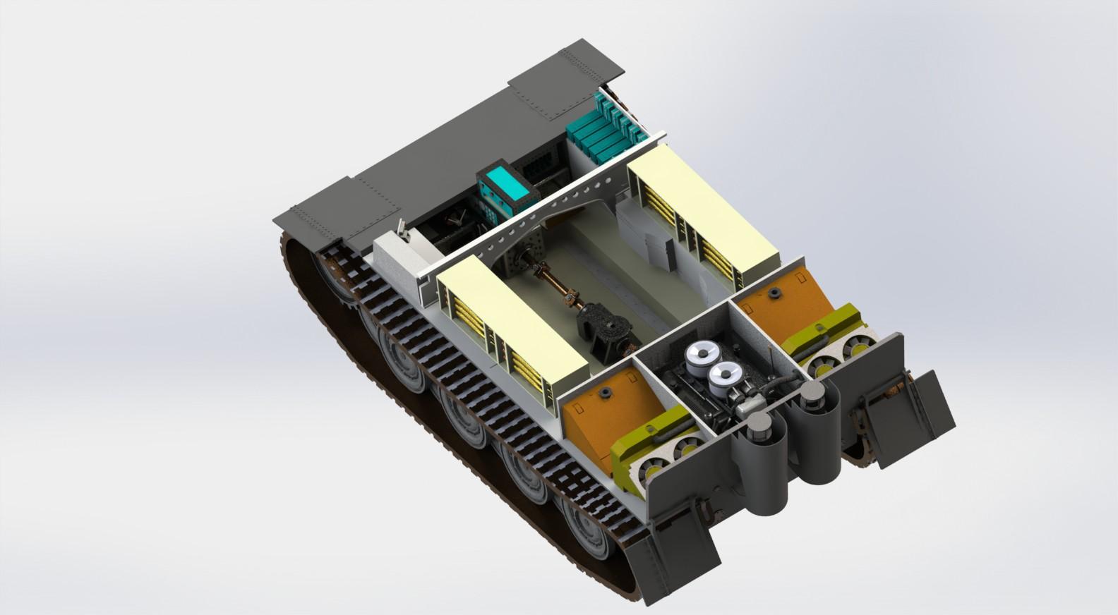 PzKpfW VI Tiger虎式坦克模型3D图纸 Solidworks设计