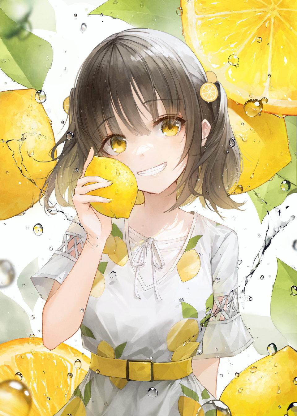 畫師繪制「水果味美少女」,草莓少女很可愛,葡萄女孩很清純