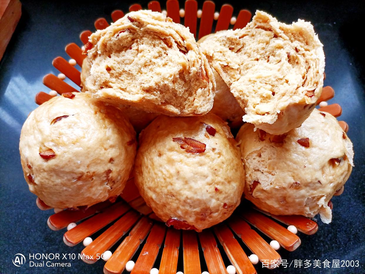 香甜松软的红糖红枣馒头,做法简单,蓬松暄软 美食做法 第18张