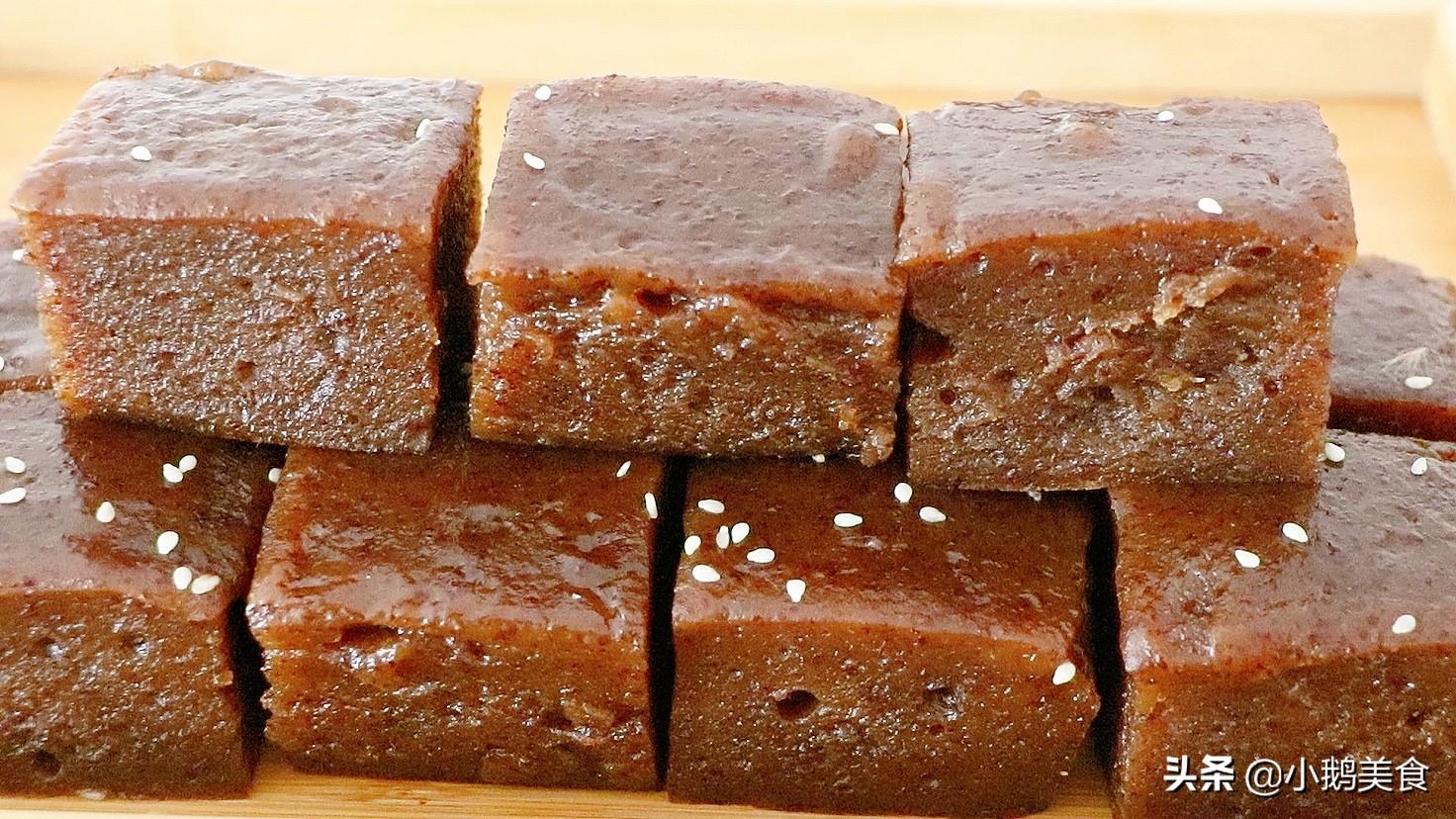 广式早点红枣糕,一拌一蒸2步搞定,冰凉香甜Q弹,夏天最爱它