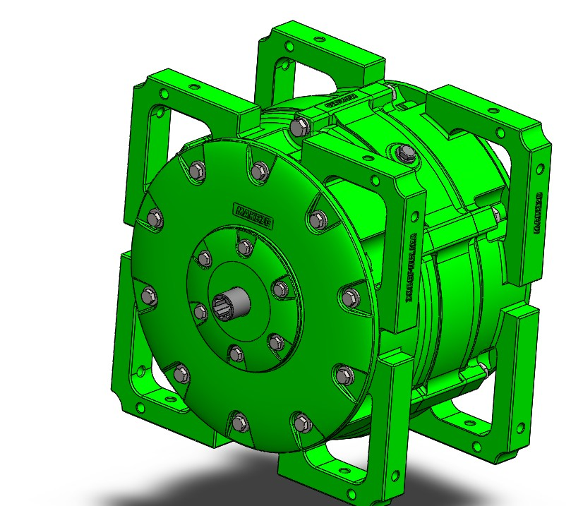 三自由度行星变速箱3D数模图纸 Solidworks设计 附STEP