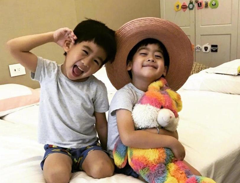 林志穎曬雙胞胎兒子野餐照,兄弟倆顏值差異引熱議:是假雙胞胎吧