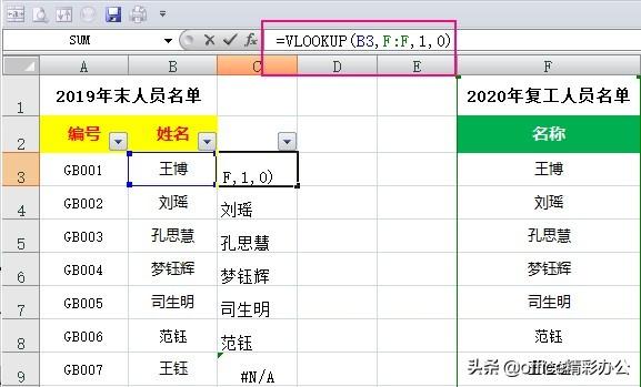 学会这4个Excel数据核对技巧,同事用2小时,你仅用1分钟搞定