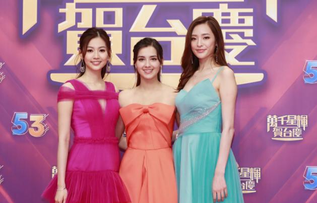 TVB晚会两百多艺人都脸生,全靠新港姐斗艳,叫上名字的都老了