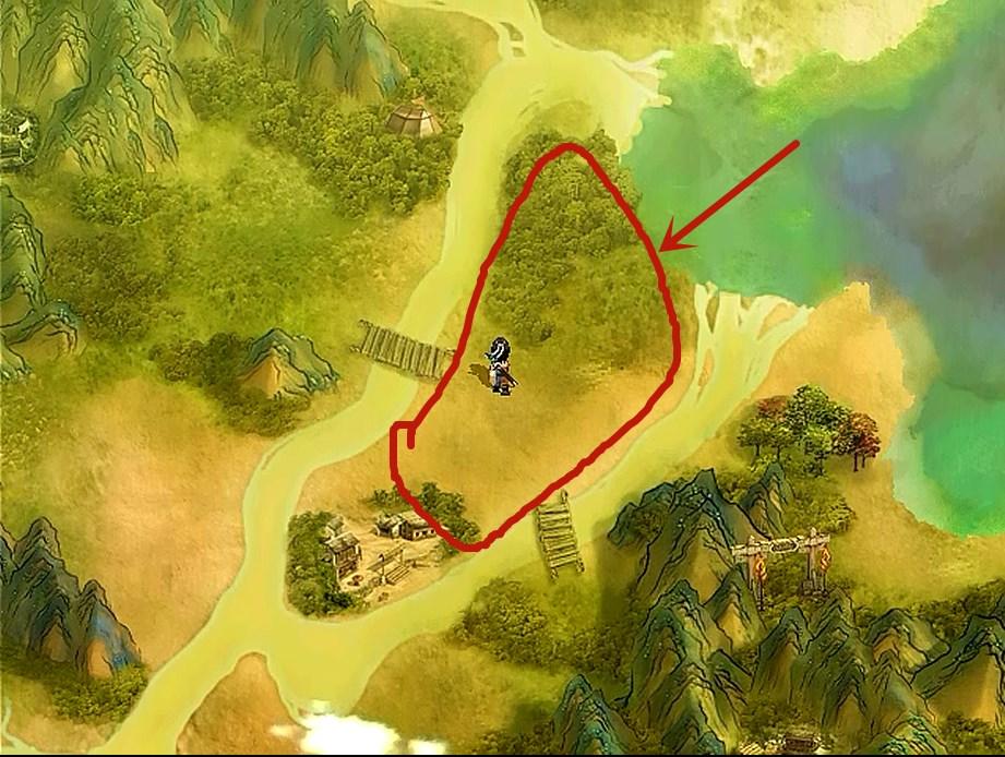 轩辕剑天之痕,游戏中的练级宝地,还好当初玩的时候没有发现