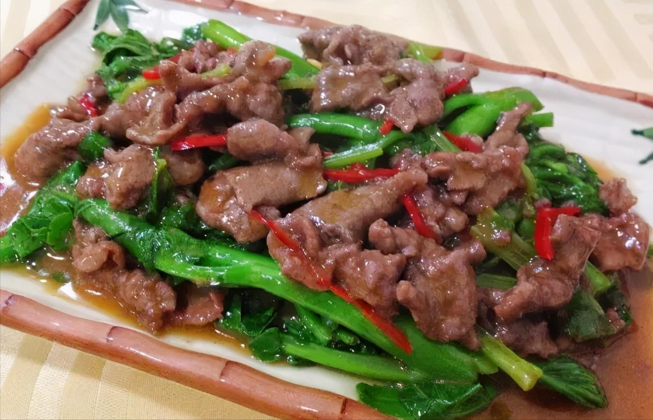 潮汕芥兰炒牛肉全教程,牛肉怎么炒又好吃又嫩?秘诀在这里 美食做法 第1张