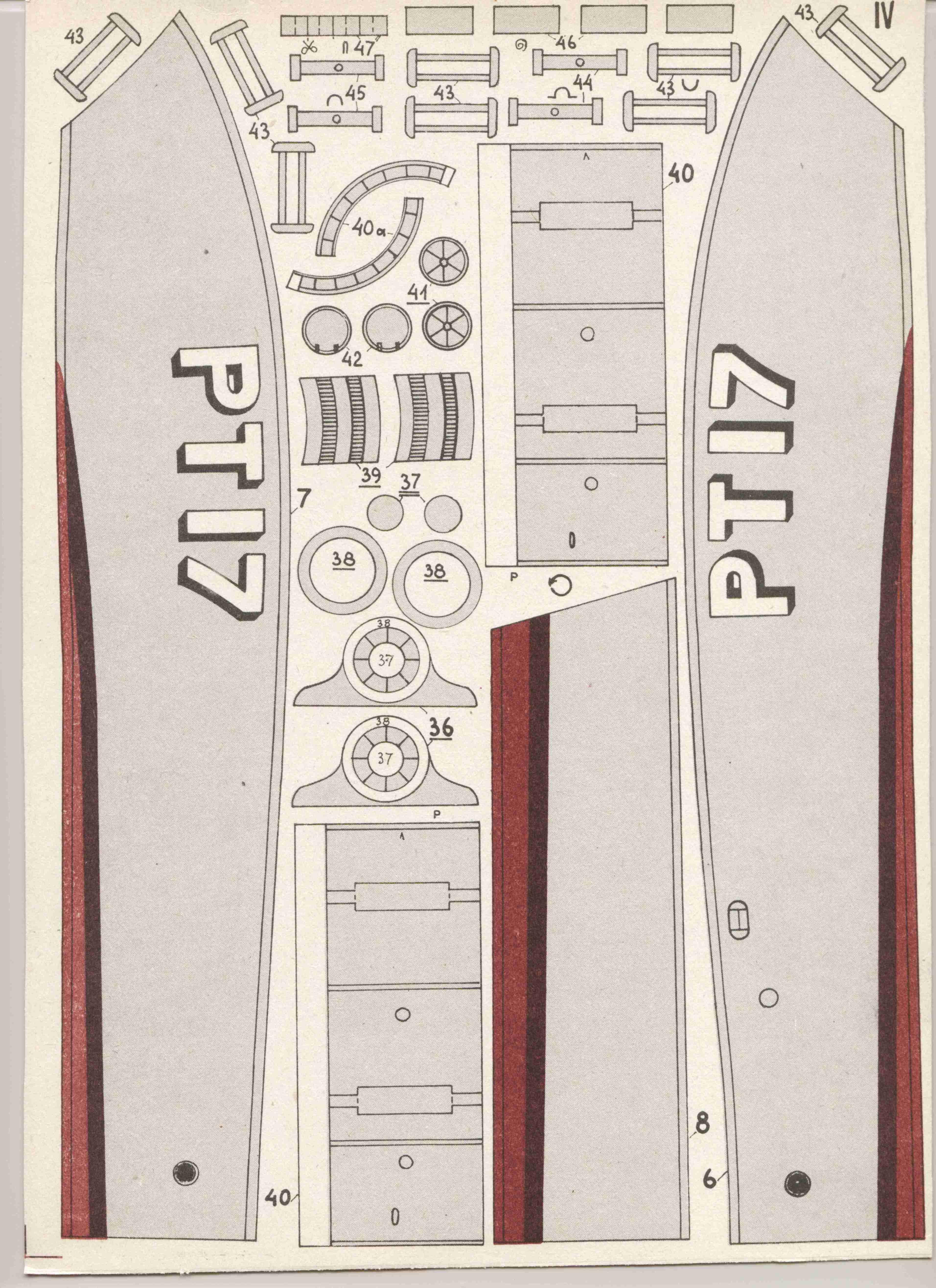 美国鱼雷艇Pt-17船模平面图纸 JPG格式