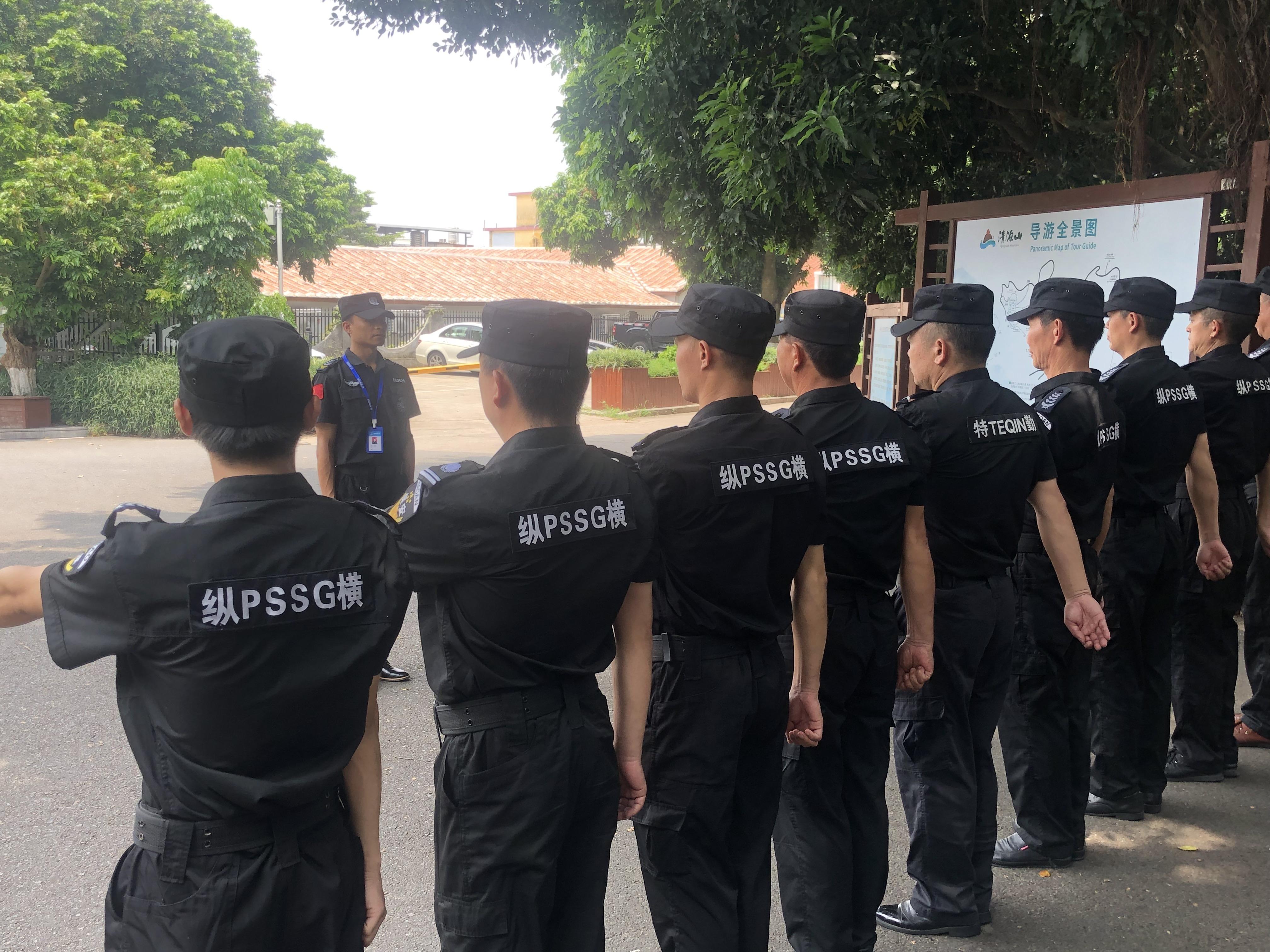 纵横保安严格驻点队列训练 做一名合格的保安没那么简单