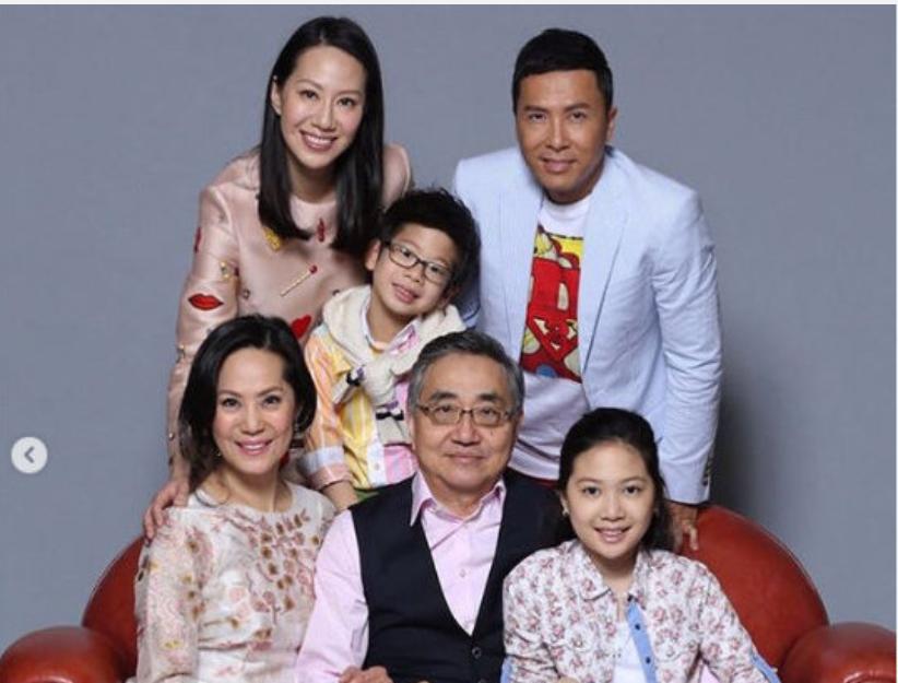 甄子丹岳父患癌去世,家人陪伴下平静离开,汪诗诗深情告白亡父