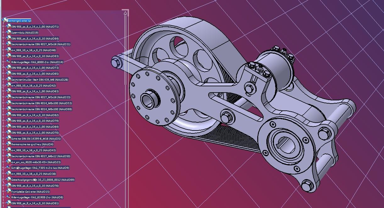 belt gear皮带联动装置结构3D图纸 STEP x_b格式