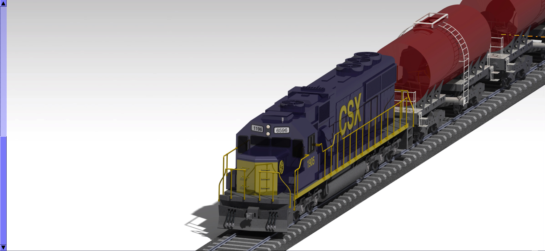 sd60机车站火车站模型3D图纸 STP IGS格式