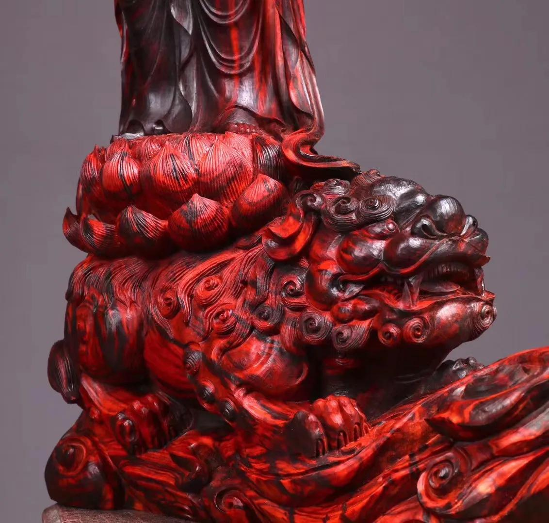 文殊菩萨!美轮美奂手工木雕!是艺术更是信仰!