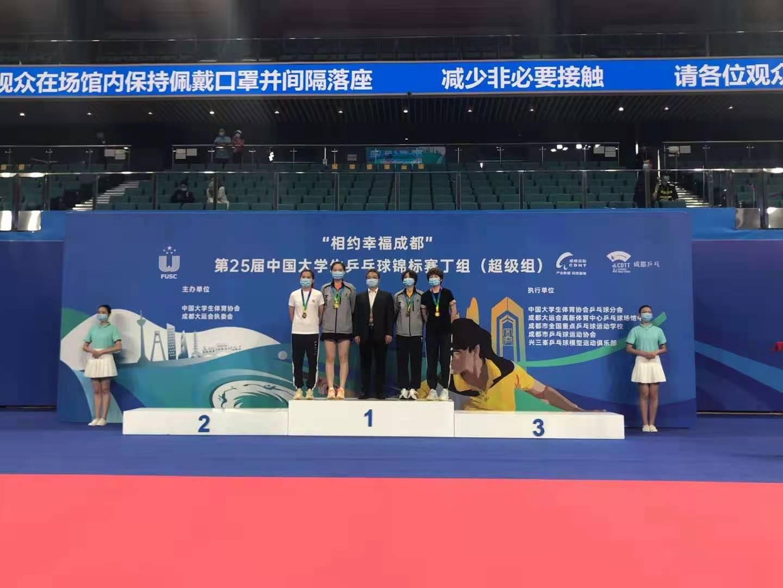 相约幸福成都·第25届中国大学生乒乓球锦标赛丁组(超级组)名次表