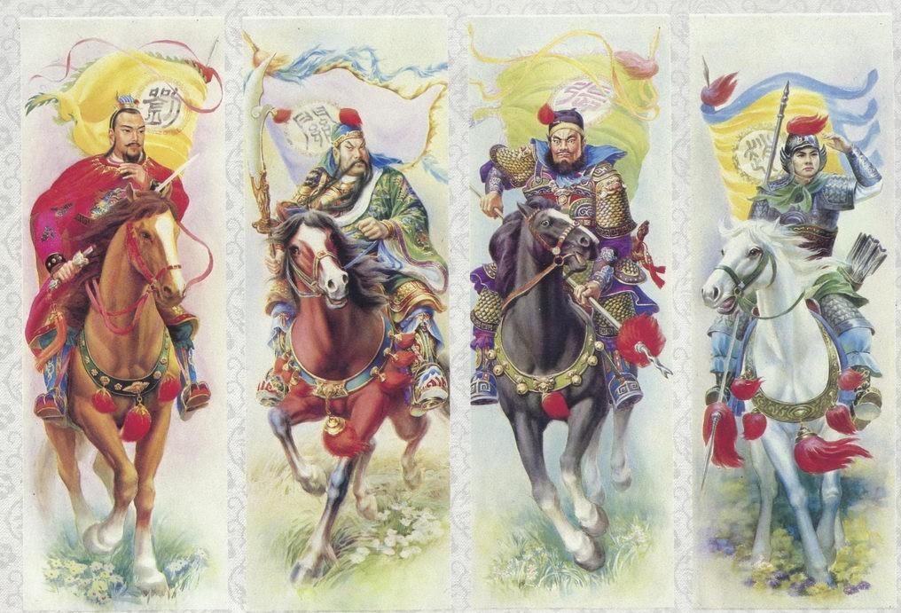 一组关于三国演义的老年画