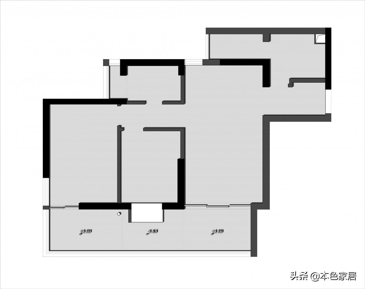 大胆改造73㎡二居室,原木加白,阳台种树造景,如诗一般生活