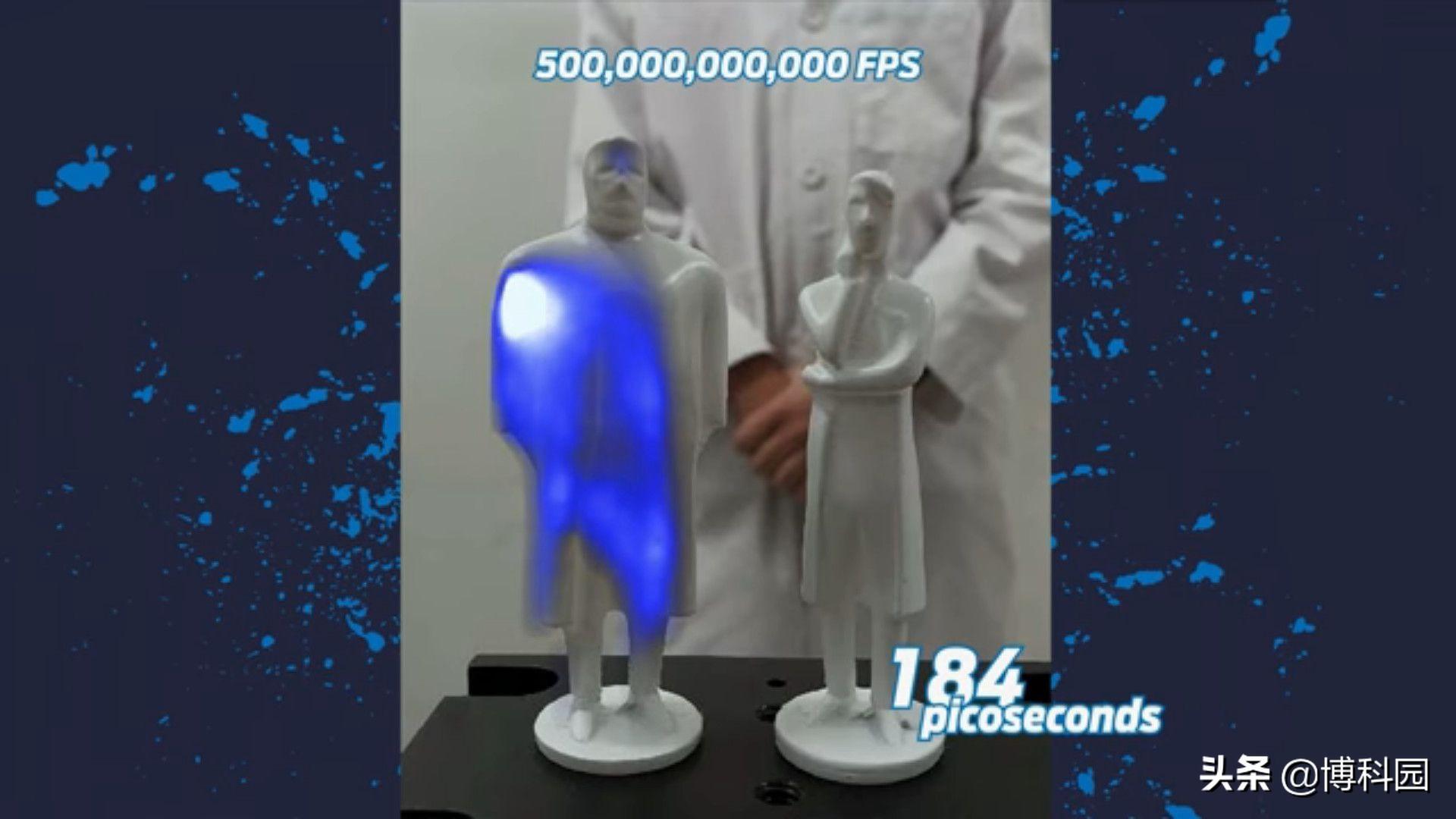 每秒1000亿帧,看慢动作下光!很美很不可思议啊