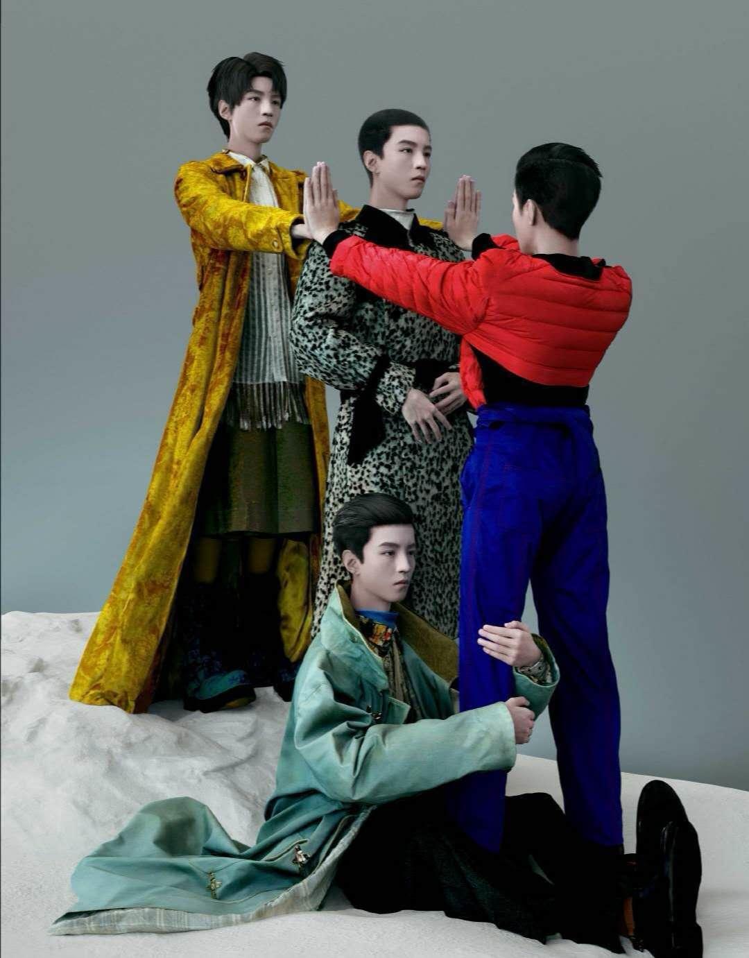 王俊凯时尚大片《这不是王俊凯》寸头曝光,创意十足,艺术感爆棚