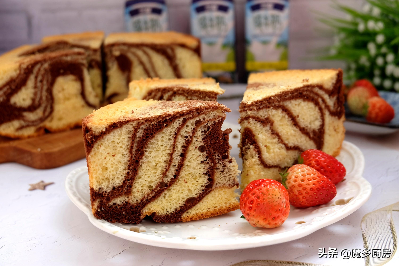這個蛋糕做法好,無油低糖配方簡單實用,兩種顏色好看又好吃