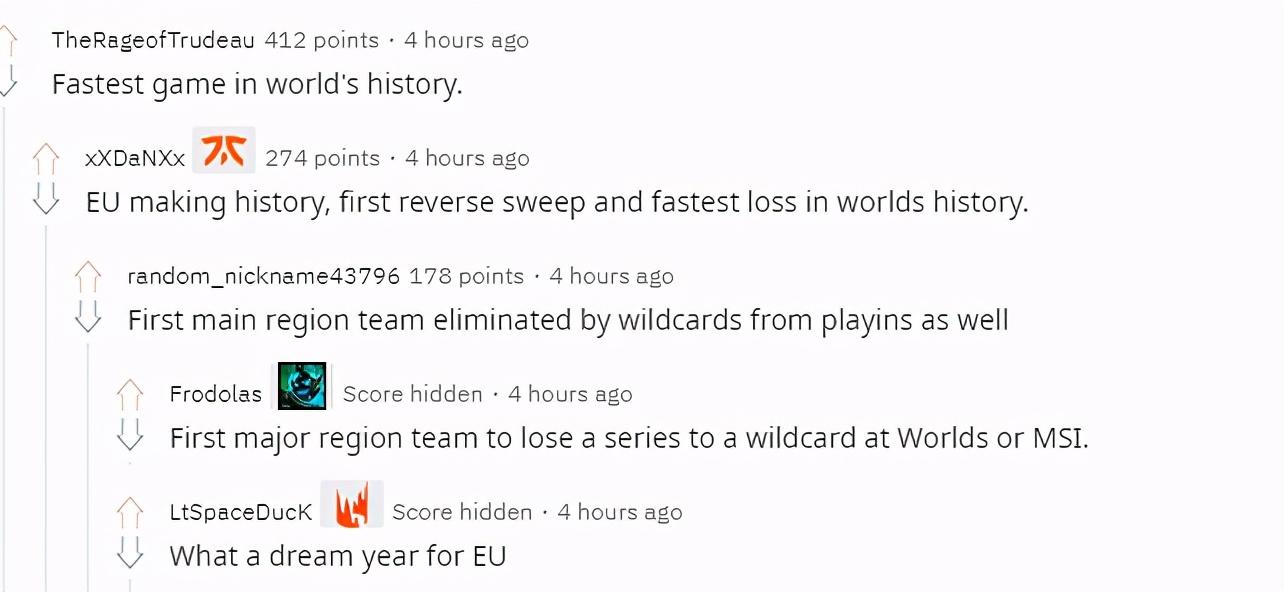 外网热议G2止步四强:世界赛史上最快结束的比赛打破记录万岁