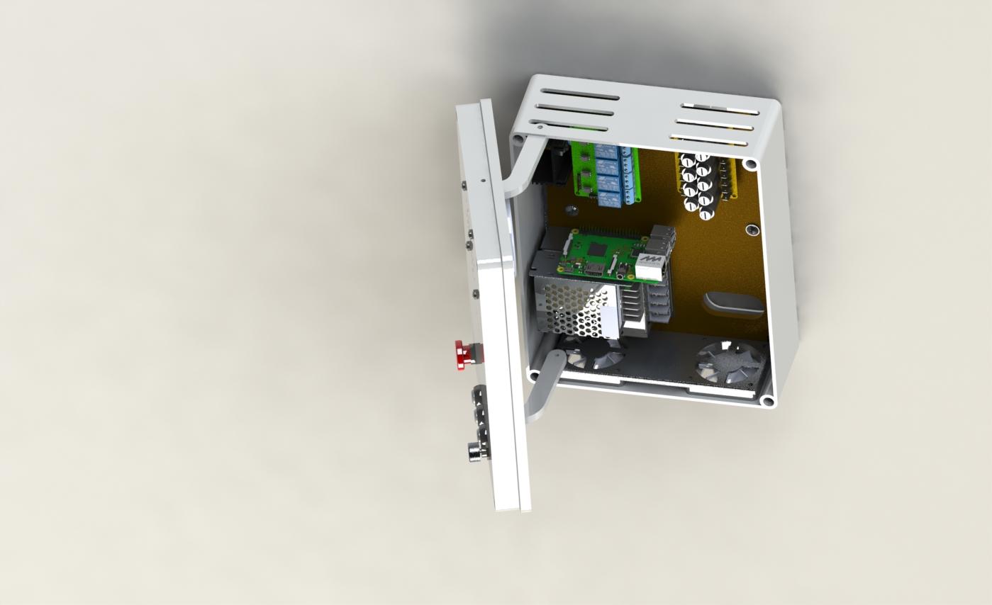 家庭电控箱电柜模型3D图纸 Solidworks设计