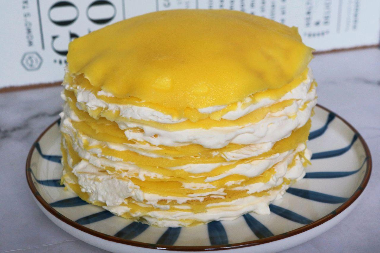免烤箱的【千层蛋糕】的做法+配方,简单快手,平底锅就能做