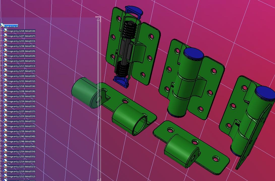 12号弹簧铰链3D数模图纸 STEP IGES格式