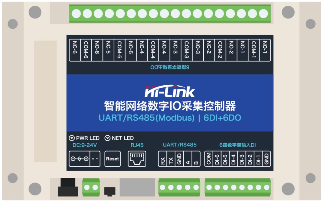 六路数字网络继电器DIO06 支持Modbus提供多种通信方式
