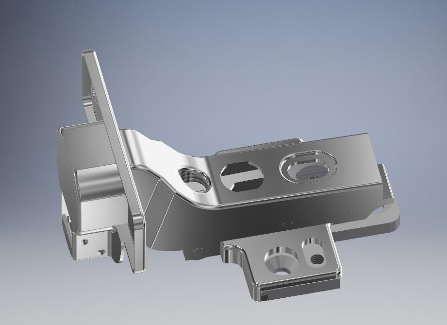 德国百隆嵌入式铰链3D数模图纸 INVENTOR设计