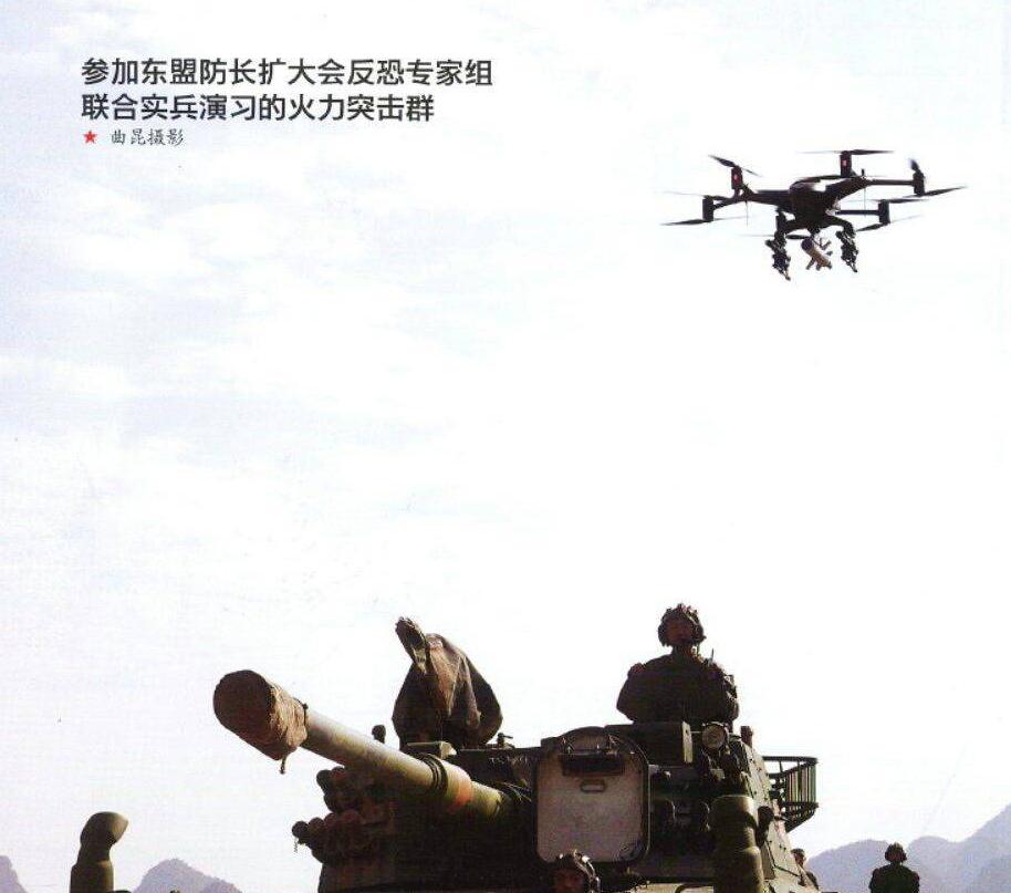 凶残!大疆类型多轴无人机也挂上导弹,对敌人展开攻击