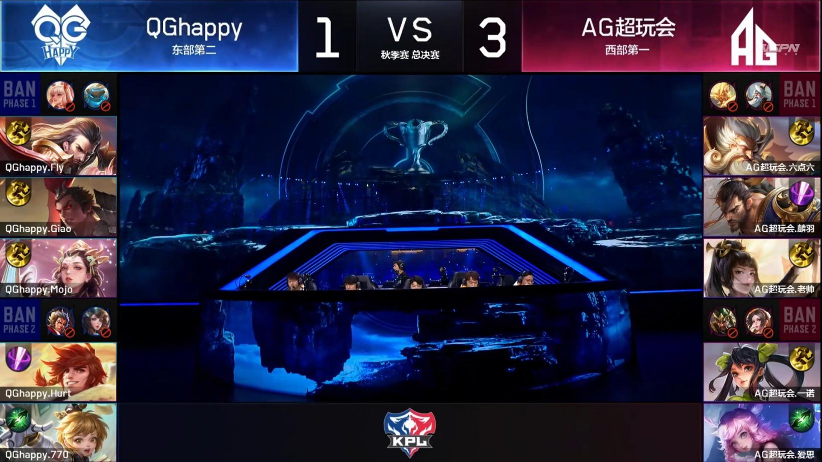 AG超玩会4:1战胜QGhappy,小猫咪涅磐即位,不敌推测终于被破