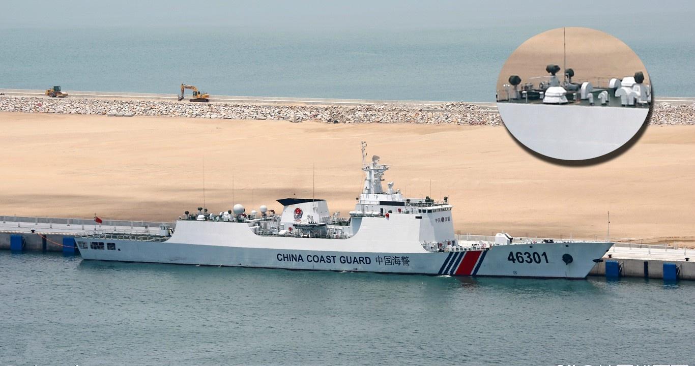 中国新万吨海巡船亮相,第二海军实力强大,首次明确使用撞击战术